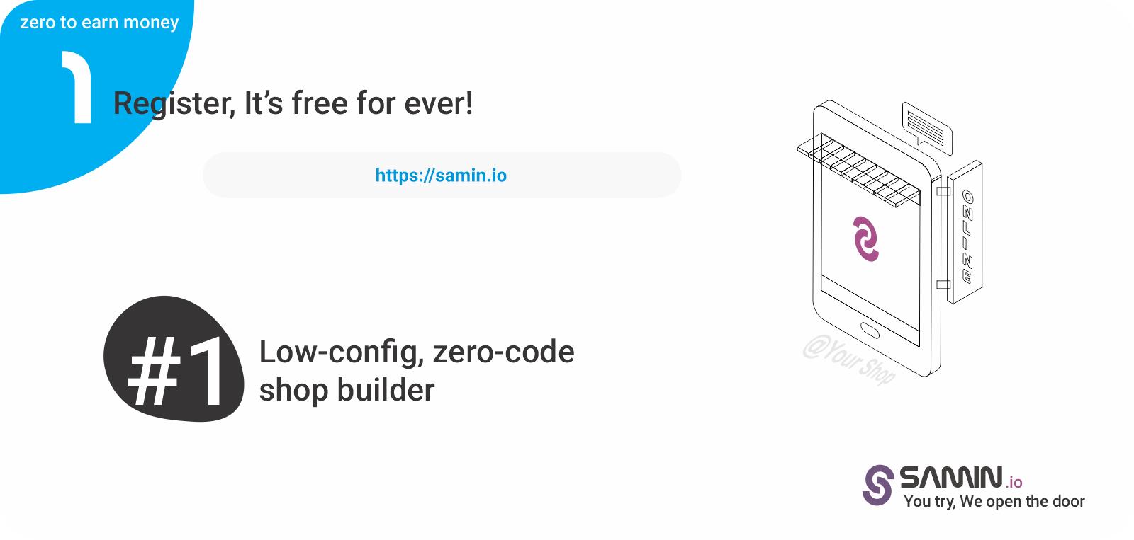 Create an new shop & Add your domain