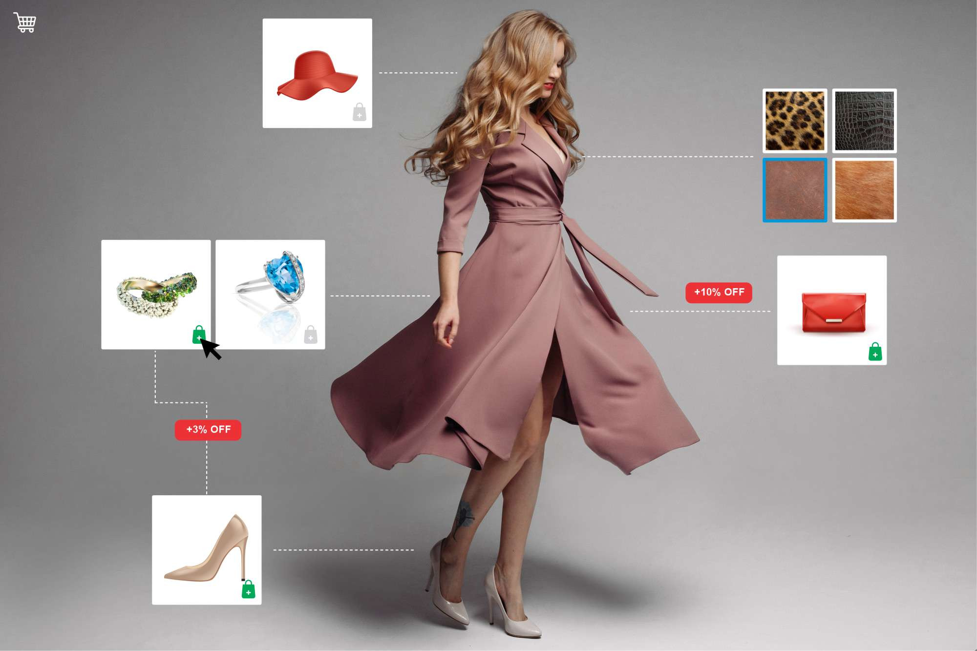 Upselling & Cross-selling.Sell additional products by an intelligent collection maker.