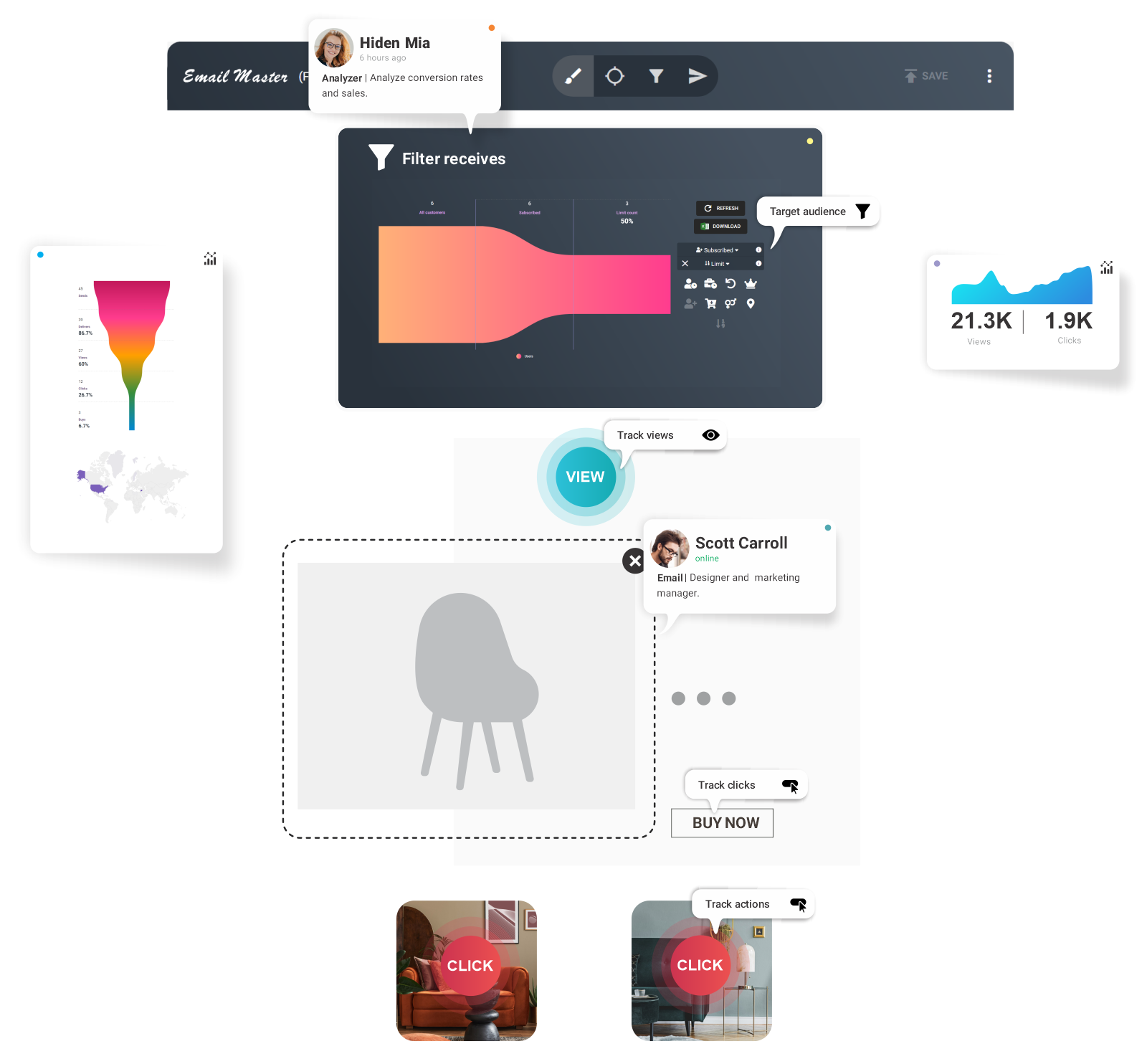 No-code email marketing tools.<br>