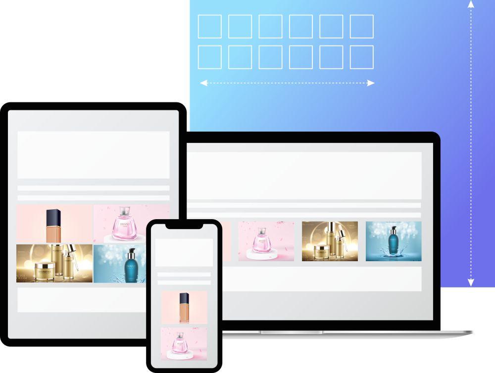 Modern responsive layouts.