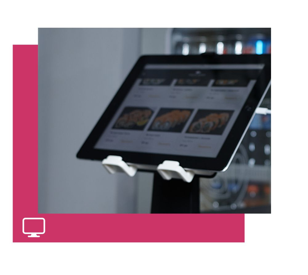 Customer screen.<br>